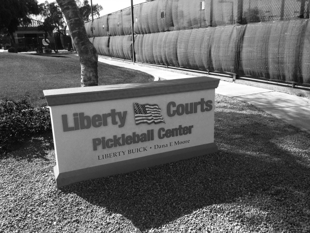 Liberty Courts Monument Sign